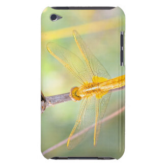 Yellow and Gold Dragonfly Barely There iPod Covers