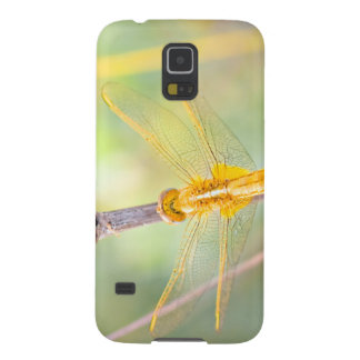 Yellow and gold dragonfly cases for galaxy s5