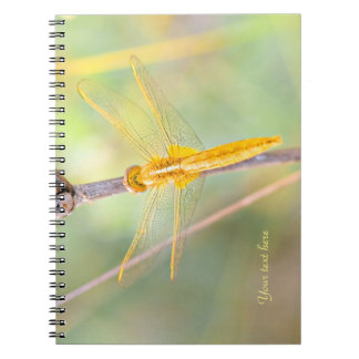 Yellow and Gold Dragonfly Spiral Notebook