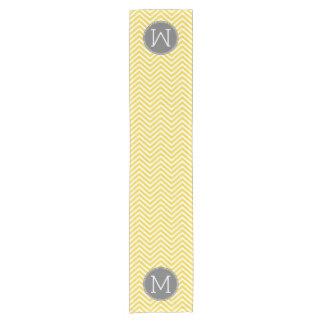Yellow and Gray Chevron Pattern with Monogram