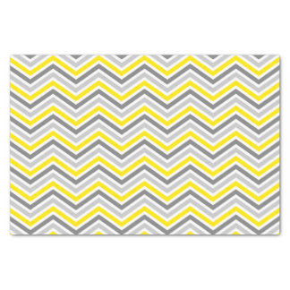 Yellow and Gray Chevron Zigzag Pattern Tissue Paper