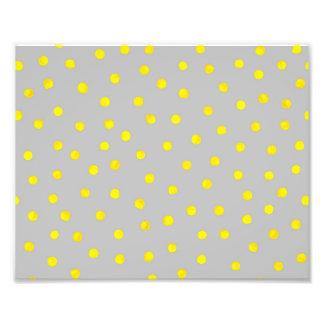 Yellow And Gray Confetti Dots Photograph