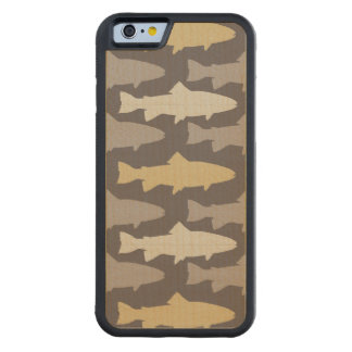 Yellow and Gray Fun Trout Fish Pattern Maple iPhone 6 Bumper Case