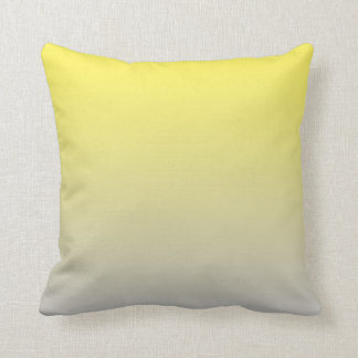 """Yellow And Gray Ombre"" Cushion"