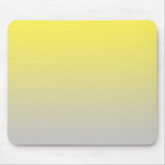 """""""Yellow And Gray Ombre"""" Mouse Pad"""