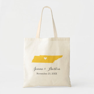 Yellow and Gray Tennessee Wedding Welcome Tote Bag