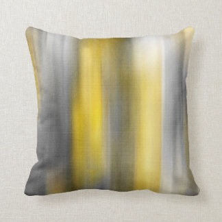Yellow and gray Vertical Abstract Cushion