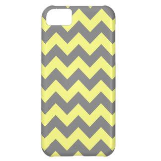 Yellow and Gray Zigzag iPhone 5C Case