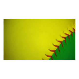 Yellow and Green Baseball Business Card Templates