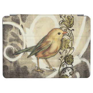 Yellow and Green Bird on Vintage Background iPad Air Cover