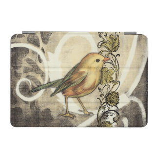 Yellow and Green Bird on Vintage Background iPad Mini Cover