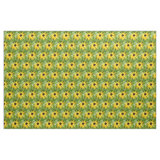 yellow and green black-eyed susans fabric