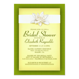Yellow and Green Bridal Shower Invitations Personalized Announcements