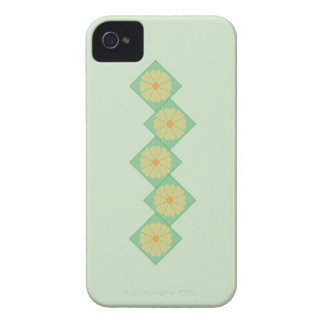 Yellow and Green Floral Border Blackberry Bold Cas iPhone 4 Cover