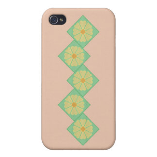 Yellow and Green Flower Border Case For iPhone 4