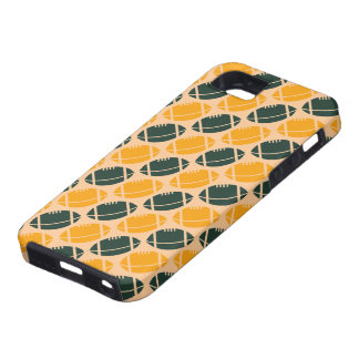 Yellow and green football (rugby) pattern case for the iPhone 5