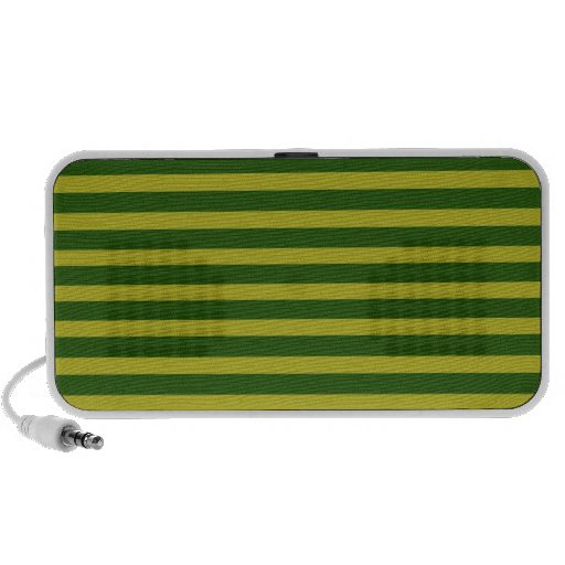 Yellow and Green Horizontal Stripes Doodle Speaker