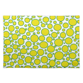 Yellow and Green Polka Dots Placemat