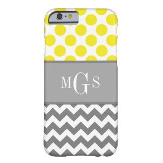 Yellow and Grey, Chevron, Polka Dots iPhone 6 case Barely There iPhone 6 Case