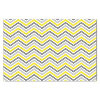 Yellow and Grey Chevron Zigzag Pattern Tissue Paper