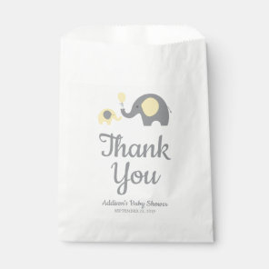 Yellow and Grey Elephant Baby Shower Favour Bags