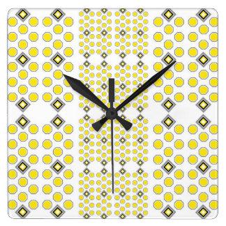 Yellow and Grey Geometric Wall Clock