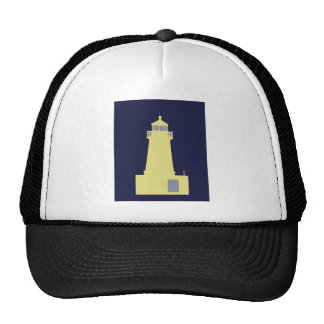 Yellow and Grey Lighthouse. Hats