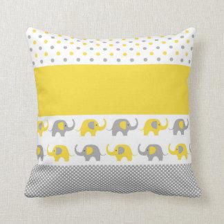 Yellow and Grey Mini-Elephant Pillow
