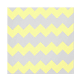 Yellow and grey modern abstract design stretched canvas prints