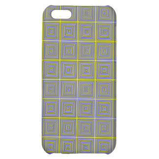 Yellow and Grey repating square pattern iPhone 5C Cover