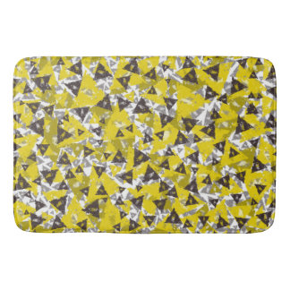 Yellow And Grey Triangle Bath Mat