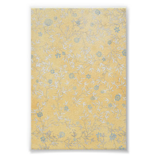 yellow and Grey Wildflowers Poster