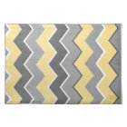 Yellow and Grey Zig Zag Pattern Placemat