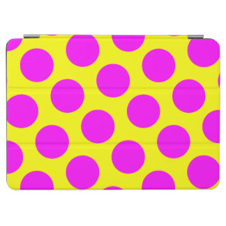 Yellow and Magenta Polka Dots iPad Air Cover