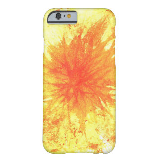 Yellow and Orange Abstract Art Watercolour Flower Barely There iPhone 6 Case