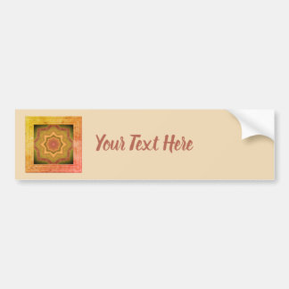 Yellow And Orange Abstract Bumper Sticker