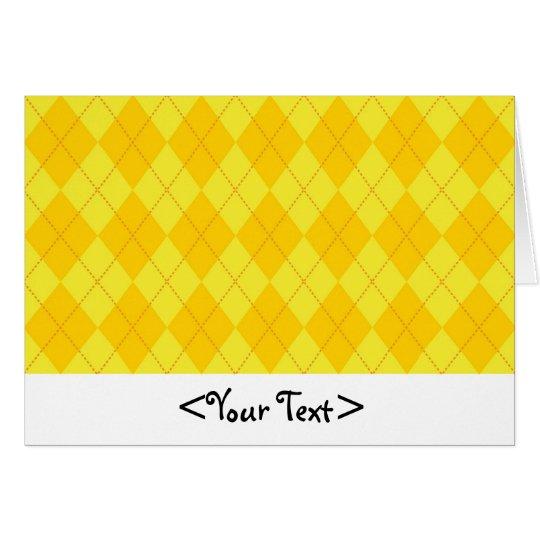 Yellow and Orange Argyle Pattern Card