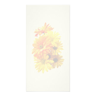 Yellow and Orange Daisies Photo Card Template