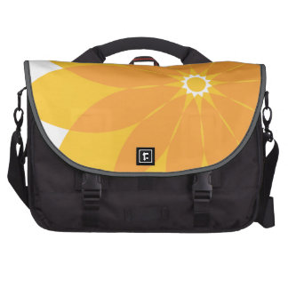 Yellow and Orange Flower on White Commuter Bags