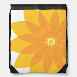 Yellow and Orange Flower on White Backpacks