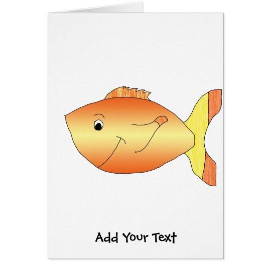 Yellow and Orange Goldfish Card