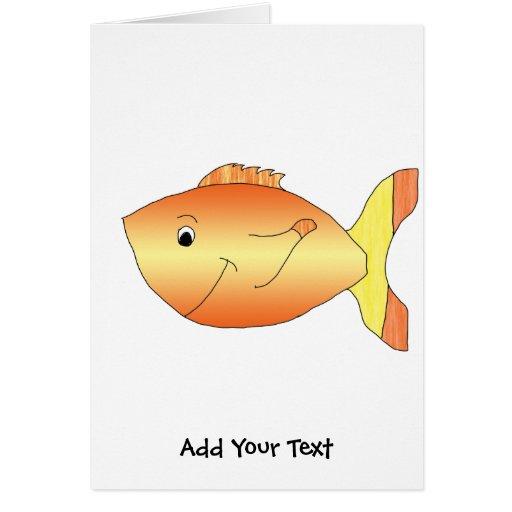 Yellow and Orange Goldfish Note Card