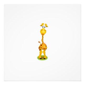 Yellow and orange happy cartoon giraffe art photo