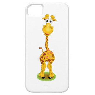 Yellow and orange happy cartoon giraffe iPhone 5 case