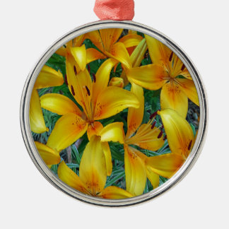 yellow and orange lily's christmas ornament