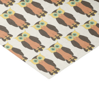 Yellow and Orange Owl Tissue Paper