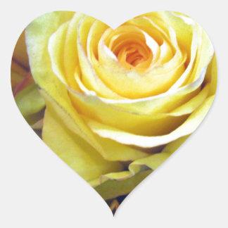 Yellow and Orange Roses Heart Sticker