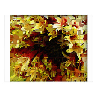 Yellow and orange tones artistic flower postcard