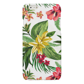 Yellow And Pink Hibiscus Pattern iPhone 6 Plus Case