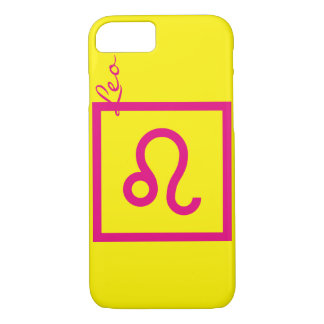 Yellow and pink Leo zodiac cell Phone caset iPhone 7 Case